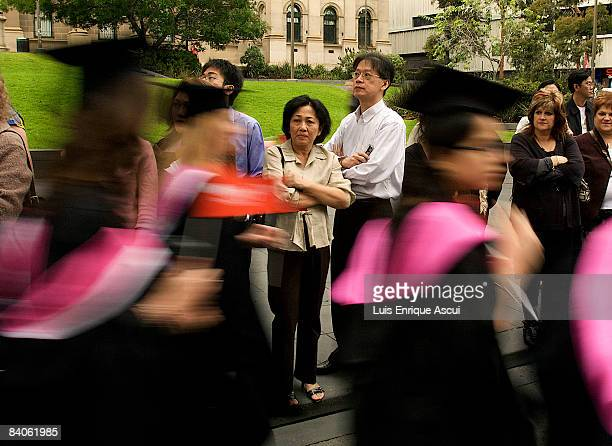 RMIT graduates march through the Melbourne CBD on December 17 2008 in Melbourne Australia RMIT students took part in a parade on Swanston Street to...