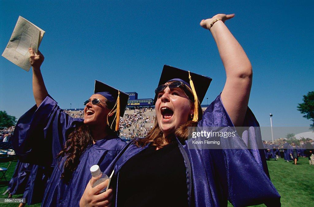 Graduates Rejoicing at Commencement
