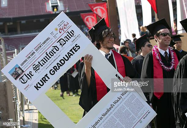 Graduating Stanford University students partcipate in the 'Wacky Walk' before the start of the 123rd Stanford commencement ceremony June 15 2014 in...