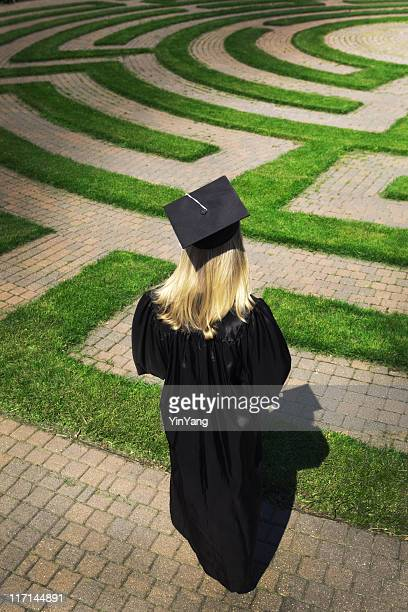Graduating Student Facing Puzzling Maze to Their Future Path