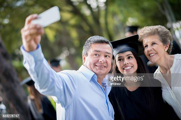 Graduation family portrait