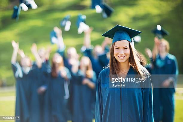 Remise des diplômes des étudiants.