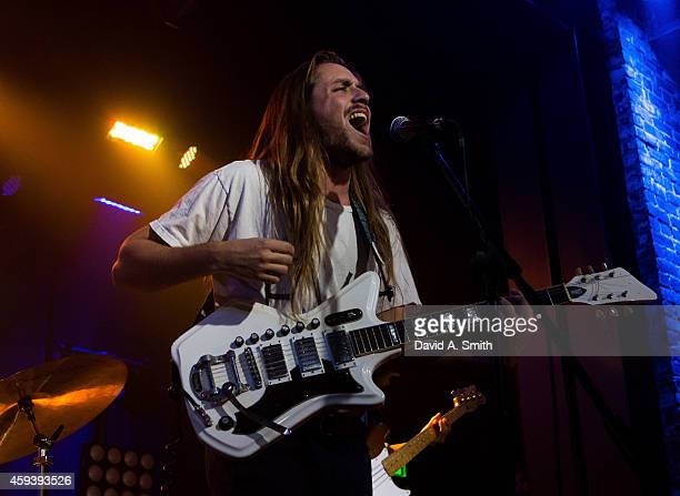 Grady 'Gravy' Wenrich of The Lonely Biscuits performs at Iron City on November 21 2014 in Birmingham Alabama