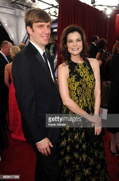Grady Olsen and actress Betsy Brandt attend 20th Annual Screen Actors Guild Awards at The Shrine Auditorium on January 18 2014 in Los Angeles...