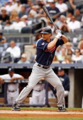 Grady Sizemore of the Cleveland Indians in action against the New York Yankees on June 12 2011 at Yankee Stadium in the Bronx borough of New York...