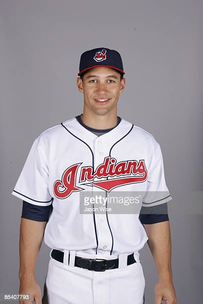 Grady Sizemore of the Cleveland Indians poses during Photo Day on Saturday February 21 2009 at Goodyear Ballpark in Goodyear Arizona