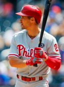 Grady Sizemore of the Philadelphia Phillies in action against the New York Mets at Citi Field on July 30 2014 in the Flushing neighborhood of the...