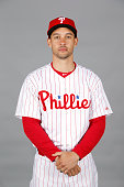 Grady Sizemore of the Philadelphia Phillies poses during Photo Day on Friday February 27 2015 at Bright House Field in Clearwater Florida