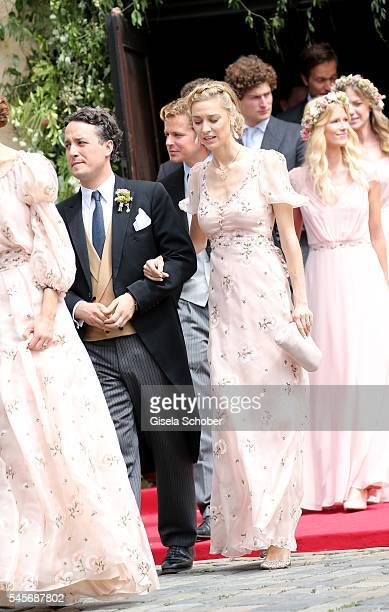 Graefin Beatrice Borromeo wife of Pierre Casiraghi and Alexander Graf FuggerBabenhausen during the wedding of hereditary Prince FranzAlbrecht zu...