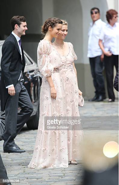 Graefin Beatrice Borromeo wife of Pierre Casiraghi during the wedding of hereditary Prince FranzAlbrecht zu OettingenSpielberg and Cleopatra von...