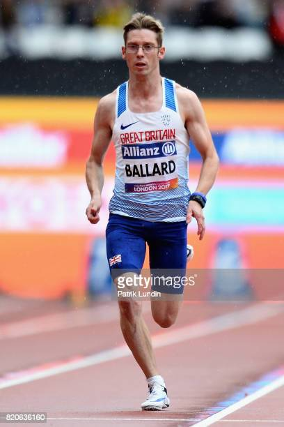 Graeme Ballard of Great Britain competes in round one heat two of the Mens 100m T36 during day nine of the IPC World ParaAthletics Championships 2017...