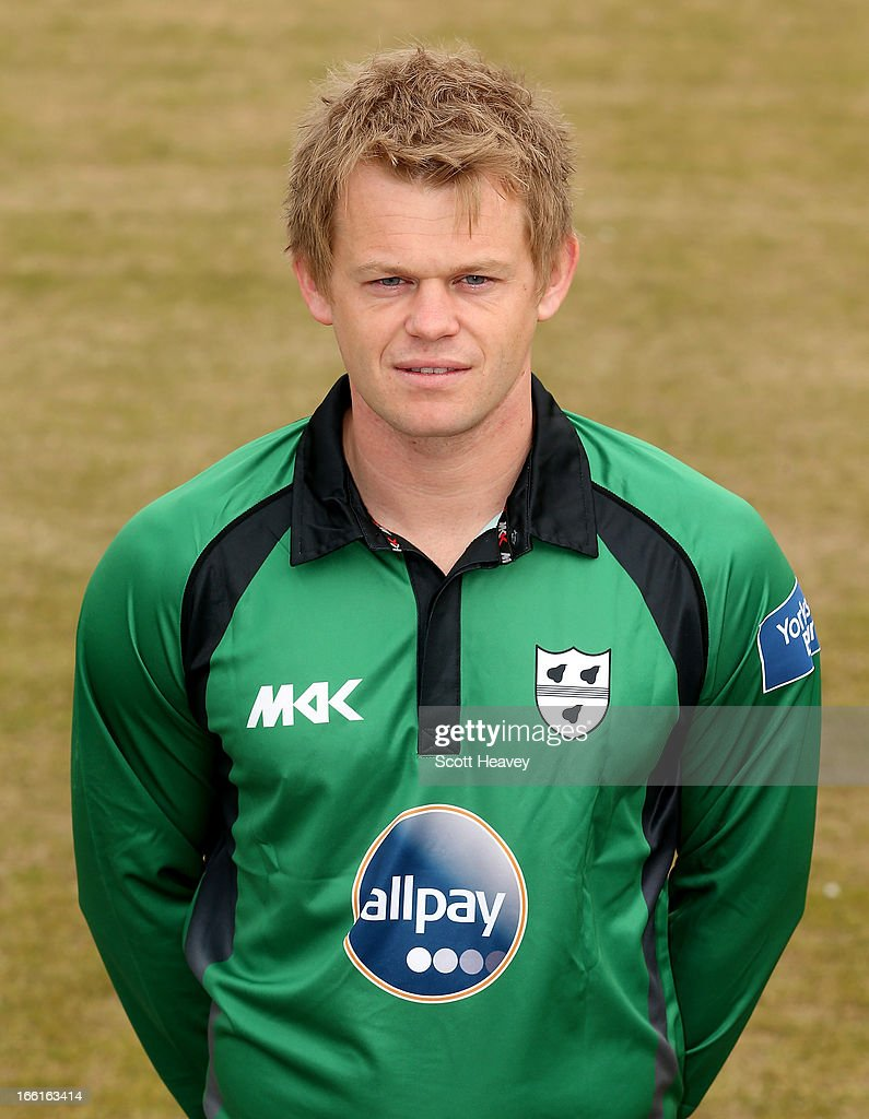 Graeme Cessford during a Photocall for Worcestershire County Cricket Club on April 9, 2013 in Worcester, England.