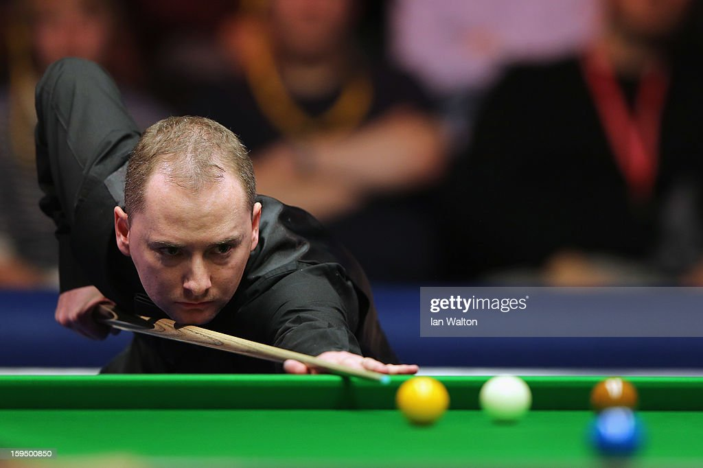 Graeme Dott of Scotland in action during his first round match against Stephen Maguire of Scotland at Alexandra Palace on January 14, 2013 in London, England.
