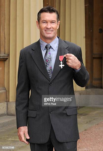 Graeme Hick after he received his Member of the British Empire medal Knighthood from Queen Elizabeth II at an Investiture ceremony at Buckingham...