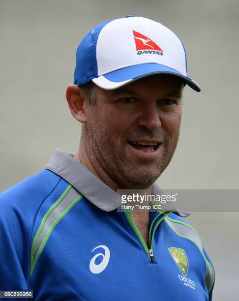 Graeme Hick Batting Coach of Australia during the ICC Champions Trophy Warmup match between Australia and Pakistan at Edgbaston on May 29 2017 in...
