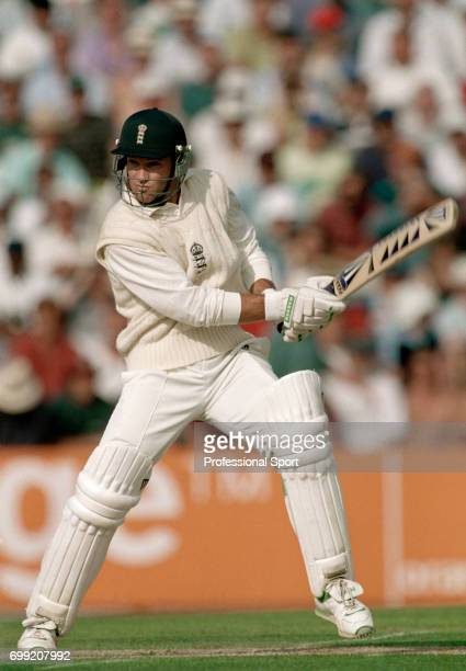 Graeme Hick batting for England during his innings of 96 in the 6th Test match between England and West Indies at The Oval London 24th August 1995...