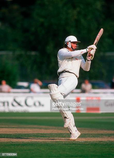 Graeme Hick batting for Worcestershire during his innings of 197 in the Britannic Assurance County Championship match between Worcestershire and...