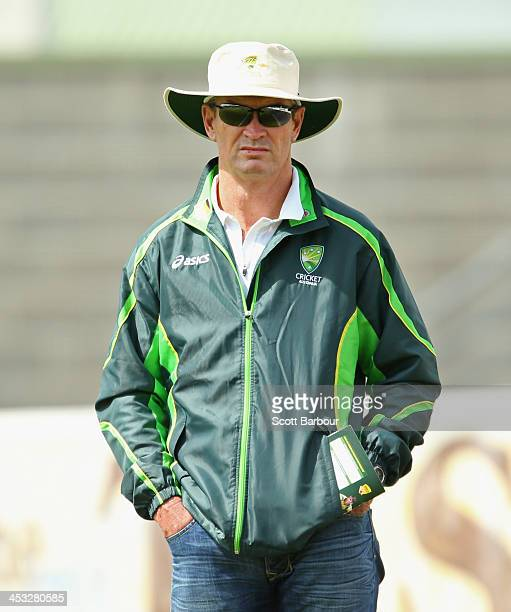 Graeme Hick High Performance Coach at Cricket Australia's Centre of Excellence looks on during the U19 Championship match between Queensland and ACT...
