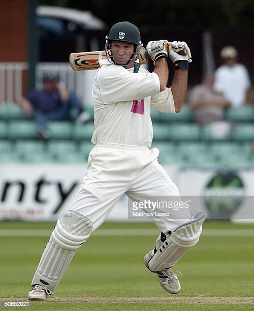 Graeme Hick of Worcestershire during the Frizzell County Championship match between Worcestershire and Gloucestershire at New Road on May 18 2004 in...