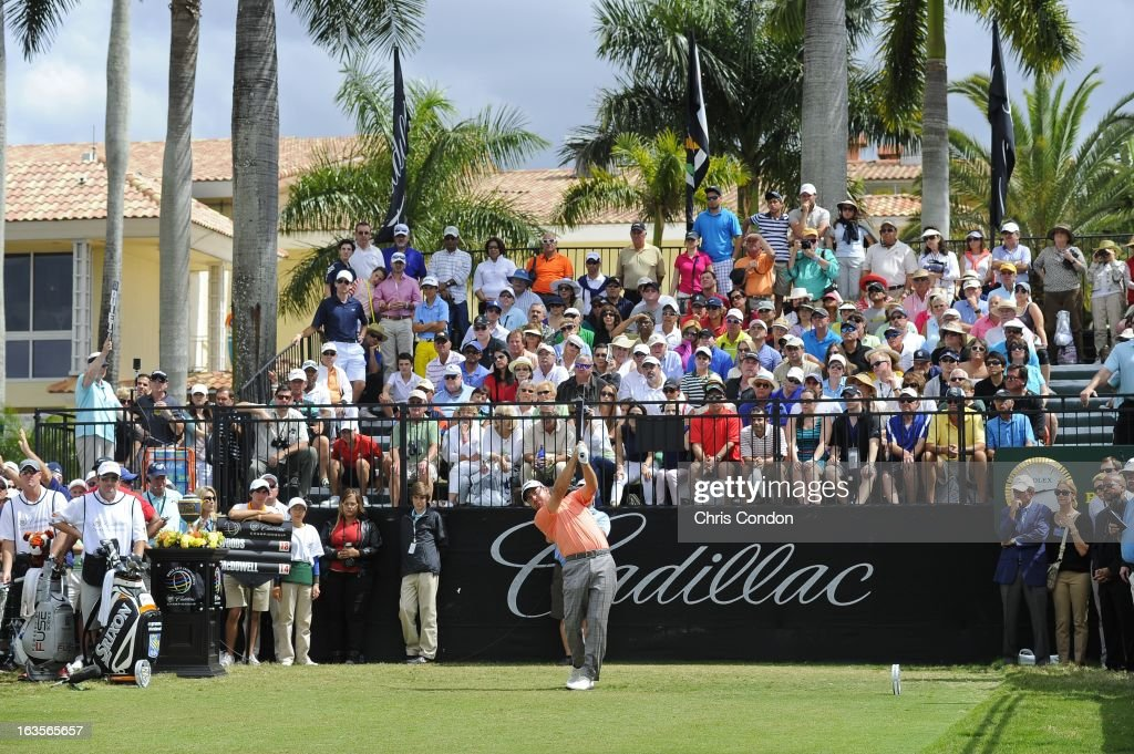 Graeme McDowell of Northern Ireland during the final round of the World Golf Championships-Cadillac Championship at TPC Blue Monster at Doral on March 10, 2013 in Doral, Florida.