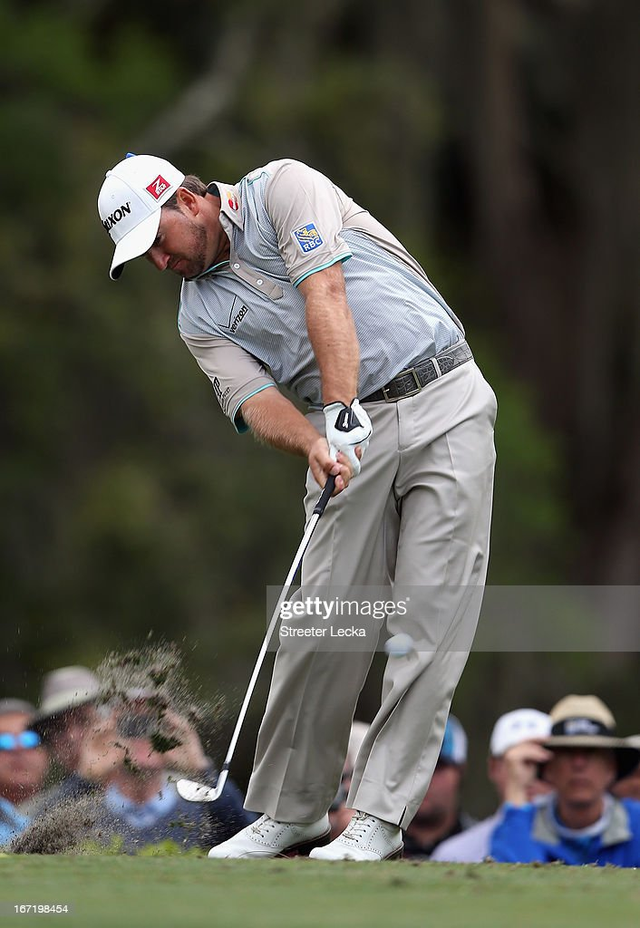 Graeme McDowell of Northern Ireland during the final round of the RBC Heritage at Harbour Town Golf Links on April 21, 2013 in Hilton Head Island, South Carolina.