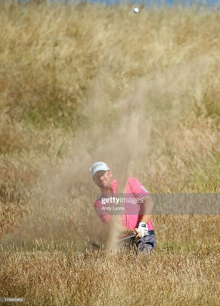 Graeme McDowell of Northern Ireland hits a shot on the 6th hole during the second round of the 142nd Open Championship at Muirfield on July 19, 2013 in Gullane, Scotland.
