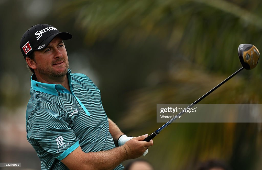 Graeme McDowell of Northern Ireland in action during a practice round ahead of the WGC - Cadillac Championship at the Doral Golf Resort & Spa on March 6, 2013 in Miami, Florida.