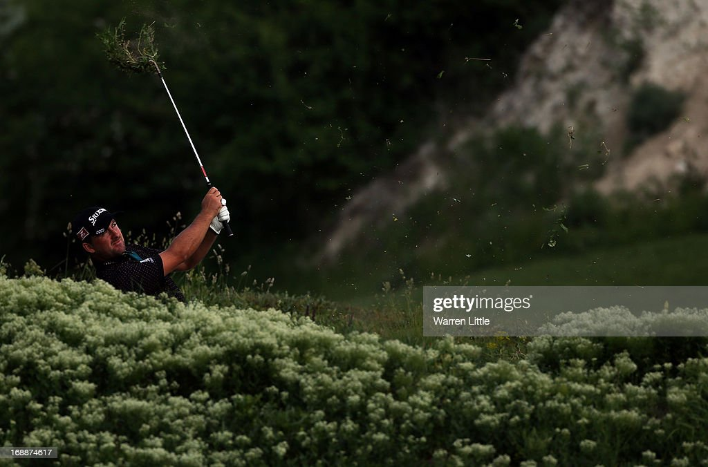Graeme McDowell of Northern Ireland in action on day one of the Volvo World Match Play Championship at Thracian Cliffs Golf & Beach Resort on May 16, 2013 in Kavarna, Bulgaria.