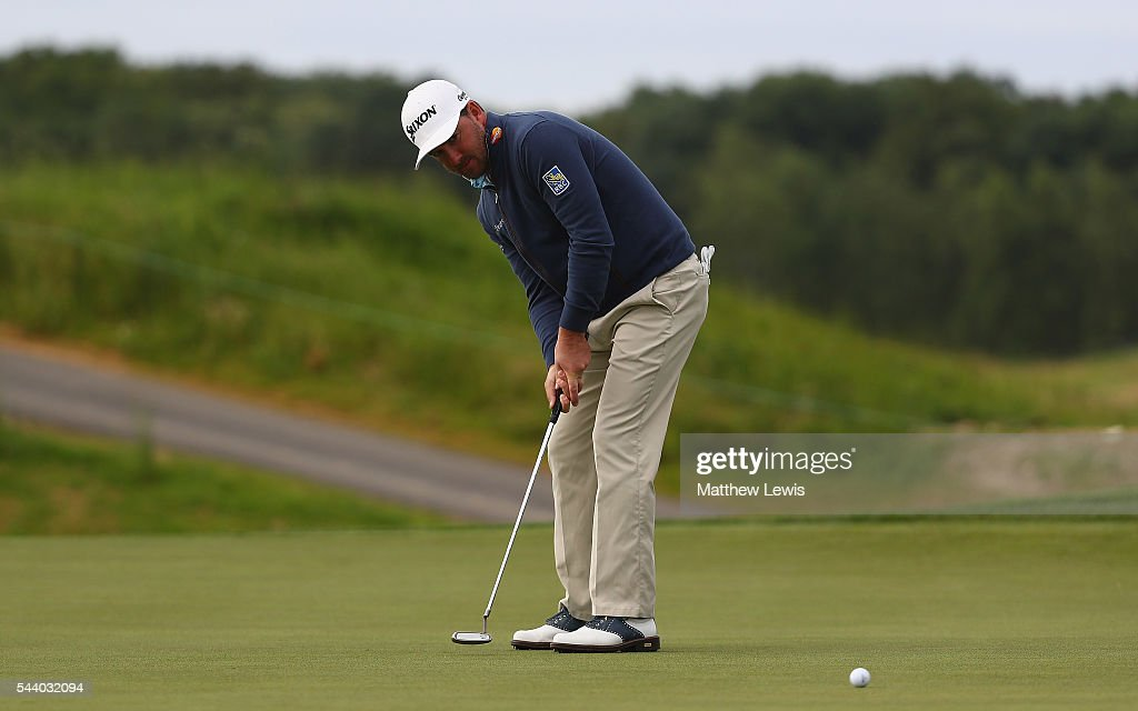 <a gi-track='captionPersonalityLinkClicked' href=/galleries/search?phrase=Graeme+McDowell+-+Golfer&family=editorial&specificpeople=196520 ng-click='$event.stopPropagation()'>Graeme McDowell</a> of Northern Ireland makes a putt during day two of the 100th Open de France at Le Golf National on July 1, 2016 in Paris, France.