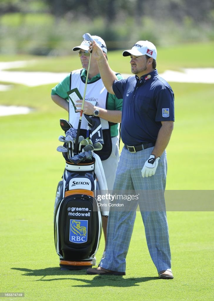 Graeme McDowell of Northern Ireland on the 12th hole during the second round of the World Golf Championships-Cadillac Championship at TPC Blue Monster at Doral on March 8, 2013 in Doral, Florida.