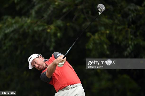 Graeme McDowell of Northern Ireland plays his shot from the sixth tee during Round Three of the DEAN DELUCA Invitational at Colonial Country Club on...