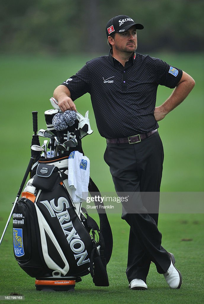 Graeme McDowell of Northern Ireland ponders during the pro am of the Honda Classic at PGA National on February 27, 2013 in Palm Beach Gardens, Florida.