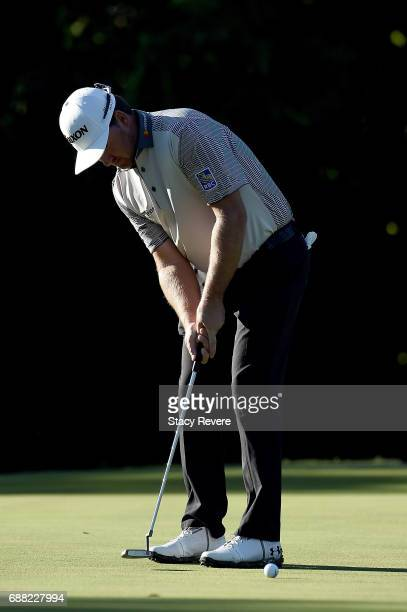 Graeme McDowell of Northern Ireland putts the ball on the 11th green during Round One of the DEAN DELUCA Invitational at Colonial Country Club on May...