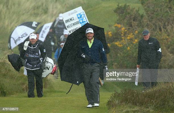 Graeme McDowell of Northern Ireland walks down the 5th hole during the Second Round of the Dubai Duty Free Irish Open Hosted by the Rory Foundation...