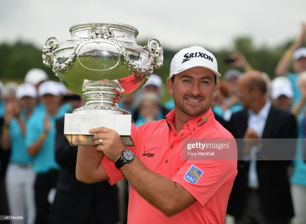 Graeme McDowell of Northern Ireland with the trophy after winning the Alstom Open de France - Day Four at Le Golf National on July 6, 2014 in Paris, France.
