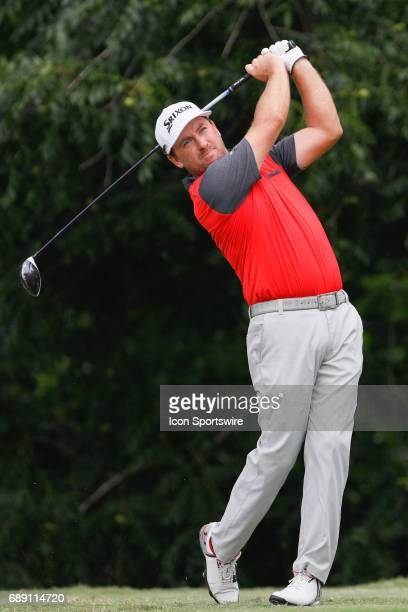 Graeme McDowell plays his shot from the sixth tee during the third round of the PGA Dean Deluca Invitational on May 27 2017 at Colonial Country Club...