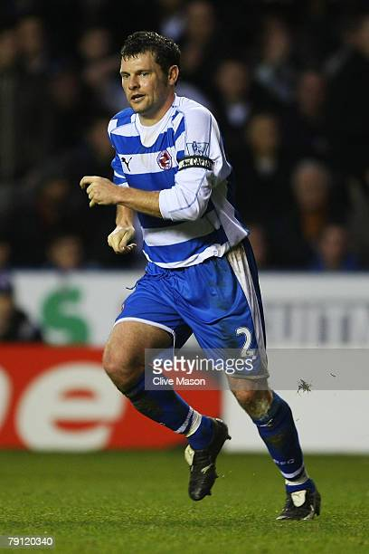 Graeme Murty of Reading in action during the Barclays Premier League match between Reading and Manchester United at The Madejski Stadium on January...