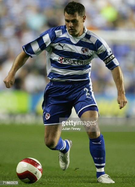Graeme Murty of Reading in action during the Barclays Premiership match between Reading and Manchester City at the Madejski Stadium on September 11...