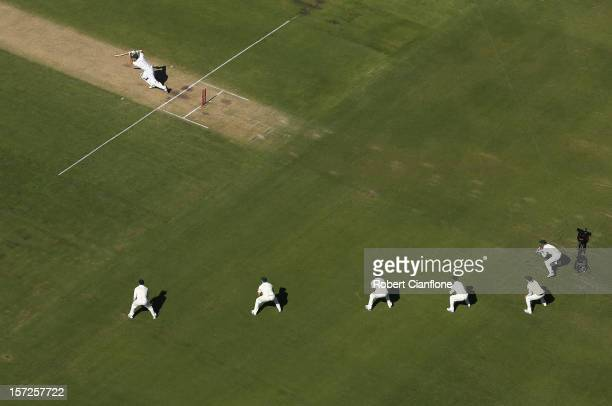 Graeme Smith of South Africa bats during day two of the Third Test Match between Australia and South Africa at WACA on December 1 2012 in Perth...