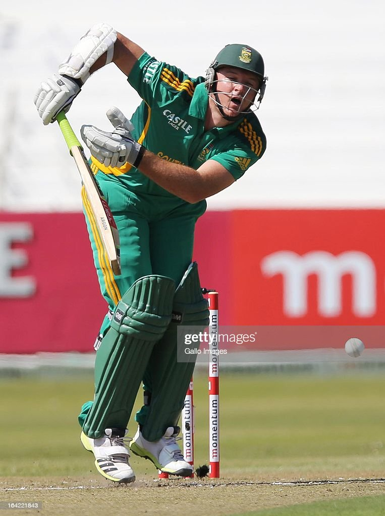 <a gi-track='captionPersonalityLinkClicked' href=/galleries/search?phrase=Graeme+Smith+-+Cricket+Player&family=editorial&specificpeople=193816 ng-click='$event.stopPropagation()'>Graeme Smith</a> of South Africa is hit by the ball during the 4th Momentum One Day International match between South Africa and Pakistan at Sahara Stadium Kingsmead on March 21, 2013 in Durban, South Africa.