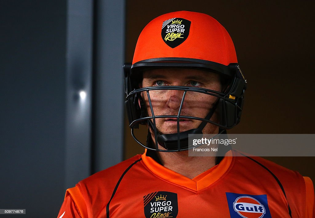 <a gi-track='captionPersonalityLinkClicked' href=/galleries/search?phrase=Graeme+Smith&family=editorial&specificpeople=193816 ng-click='$event.stopPropagation()'>Graeme Smith</a> of Virgo Super Kings prepares to bat during the Oxigen Masters Champions League Semi Final match between Leo Lions and Virgo Super Kings at Dubai International Cricket Stadium on February 12, 2016 in Dubai, United Arab Emirates.