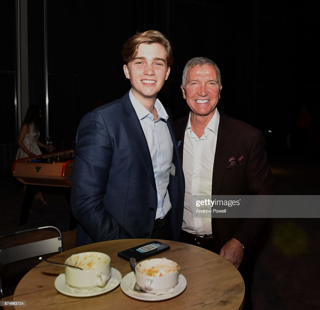 Graeme Souness and his son during the after party 'Kenny' film premiere at the Titanic Hotel Liverpool November 15, 2017 in Liverpool, England.