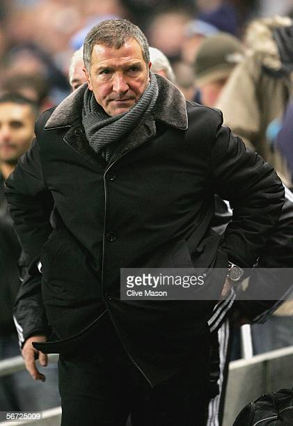 Graeme Souness of Newcastle United looks frustrated at the end of the Barclays Premiership match between Manchester City and Newcastle United at the...