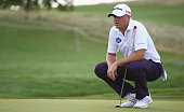 Graeme Storm of England looks on during day two of the DD Real Czech Masters at Albatross Golf Resort on August 28 2015 in Prague Czech Republic