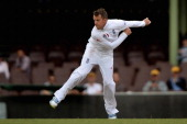 Graeme Swann of England bowls during day three of the tour match between CA Invitational XI and England at the Sydney Cricket Ground on November 15...