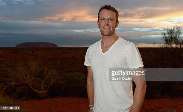 Graeme Swann of England poses for a photograph during a team visit to Uluru which is also known as Ayers Rock on November 26 2013 in Ayers Rock...
