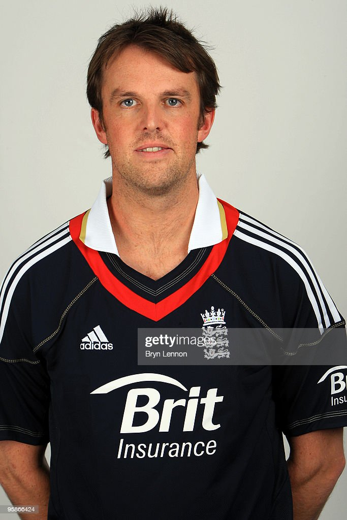 <a gi-track='captionPersonalityLinkClicked' href=/galleries/search?phrase=Graeme+Swann&family=editorial&specificpeople=578767 ng-click='$event.stopPropagation()'>Graeme Swann</a> of England poses for the team portraits at the ECB Centre at University on October 28, 2009 in Loughbrough,England.