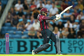 Graeme White of Northampton bats during the NatWest T20 Blast match between Yorkshire Vikings and Nothamptonshire Steelbacks at Headingley on July 22...