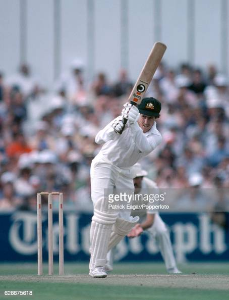 Graeme Wood batting for Australia during the 1st Prudential Trophy One Day International between England and Australia at The Oval London 20th August...