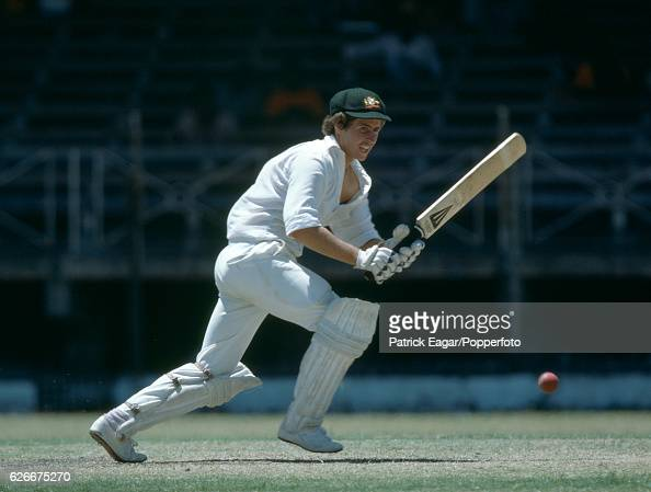 Graeme Wood batting for Australia during the tour match between Barbados and Australia at Bridgetown Barbados 12th March 1978